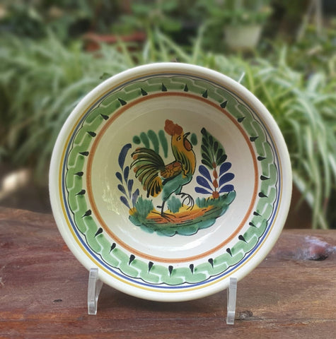mexican-bowl-cereal-soup-handmade-handcrafts-talavera-mexico-rooster
