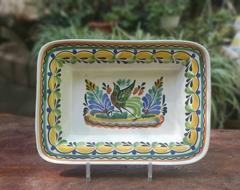 mexican-ceramic-tabledecor-bird-motive-majolica