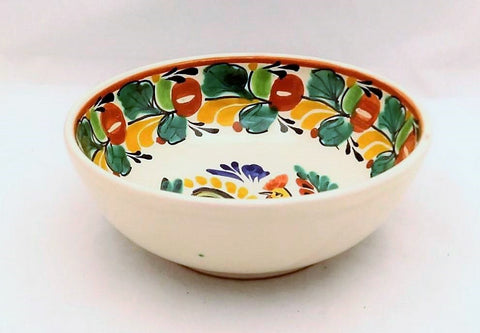 mexican-bowls-pottery-folk-art-hand-painted-rooster-motive-cereal-bowl-16-9-oz-tableware-talavera-majolica-mexico