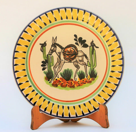 mexican-plates-table-decor-donkey-motive-majolica-hand-painted-mexico