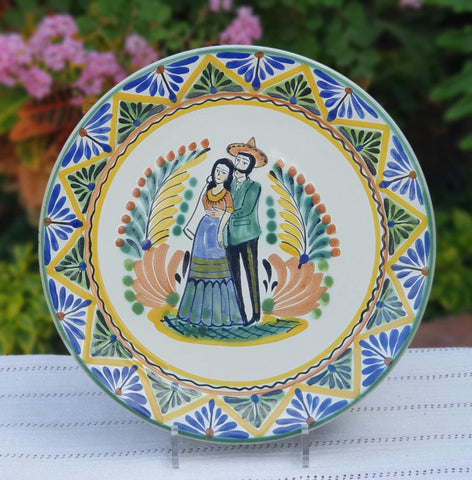 mexican-plates-wedding-motive-for gift-tableware-art-ceramic-hand-made-mexico