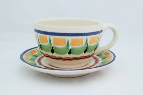 mexican-pottery-ceramic-tableware-cup-and-saucer-majolica-hand-painted-mexico-multicolors-IV