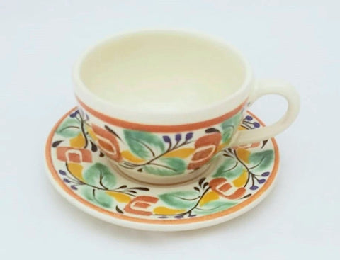 mexican-pottery-ceramic-tableware-cup-and-saucer-majolica-hand-painted-mexico-multicolors-VI