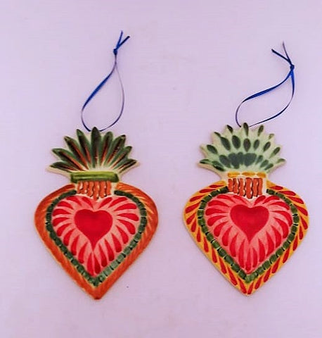 mexican ornaments folk art sacread heart gorky workshop