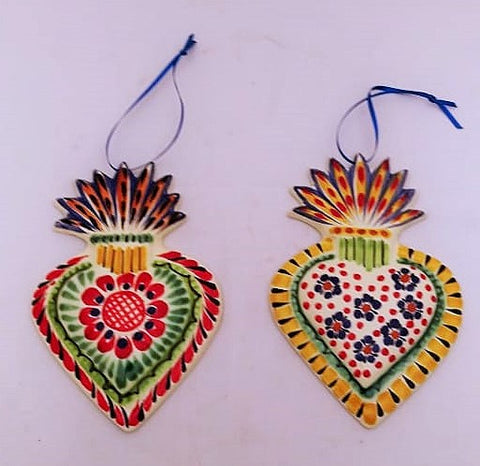mexican-gifts-ceramic-handcrafs-christmas-ornaments-sacred-heart