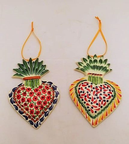 mexican ornaments christmas folk art hand painted