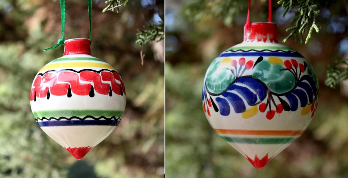 Ornament Sphere Set of 2 Multi-colors