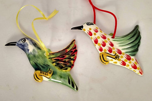Ornament Colibri Set of 2