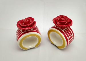 Set of 2 Round Napking Ring Rosa Figure