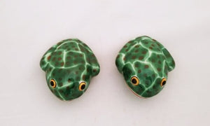 Frog Salt & Pepper Shaker Set Strong Green Colors