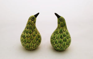 Kiwi Bird Salt and Pepper Shaker Set Lemon Green Colors