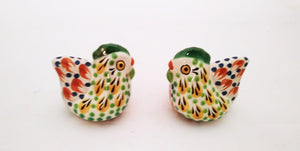 Hen Salt and Pepper Shaker Set Yellow-Terracota Colors