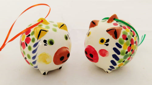Ornament Pig Set of 2 multicolor