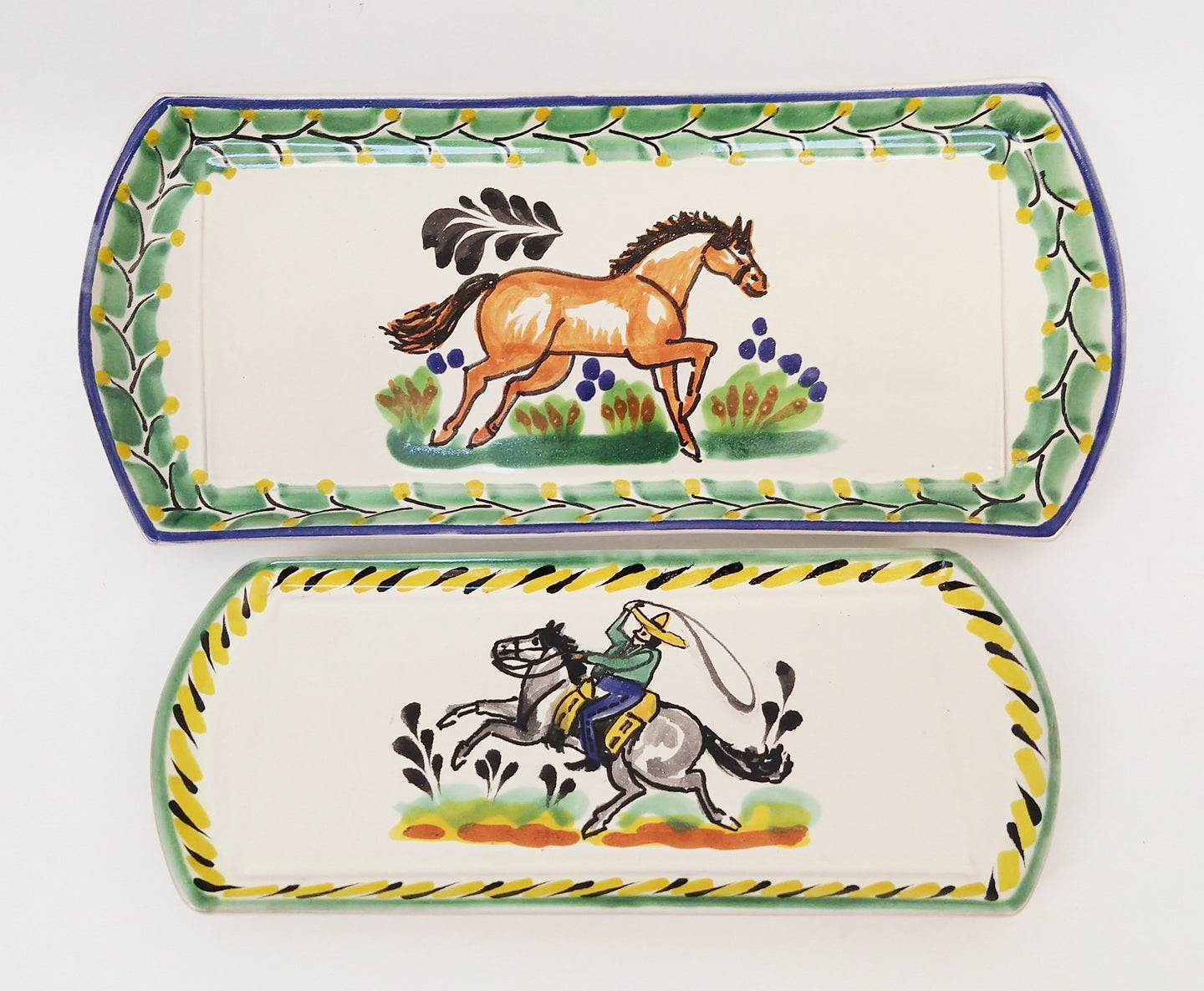 Cowboy Set of 2 Trays Multicolor