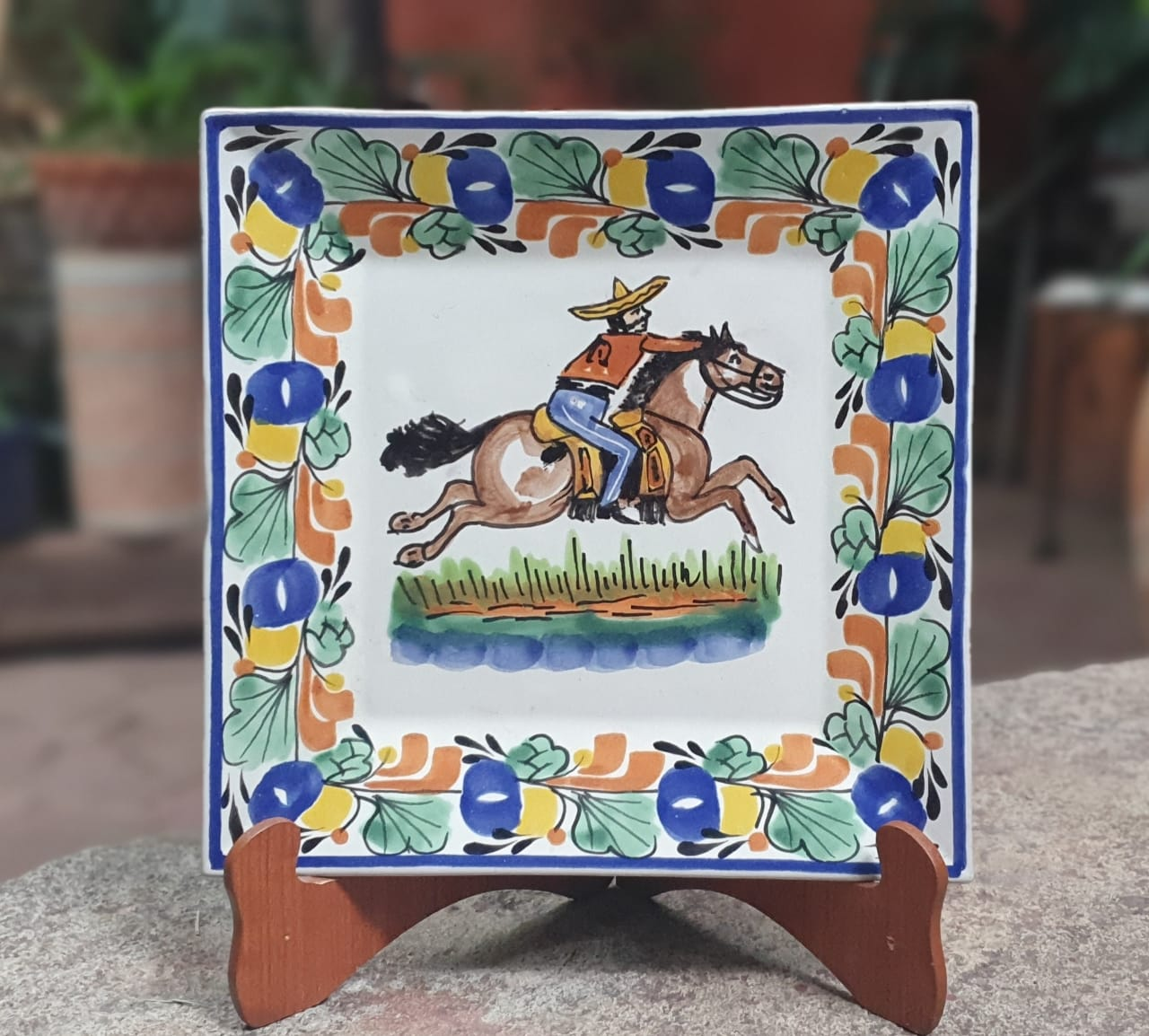 Cowboy Dinner Square Plate 11x11