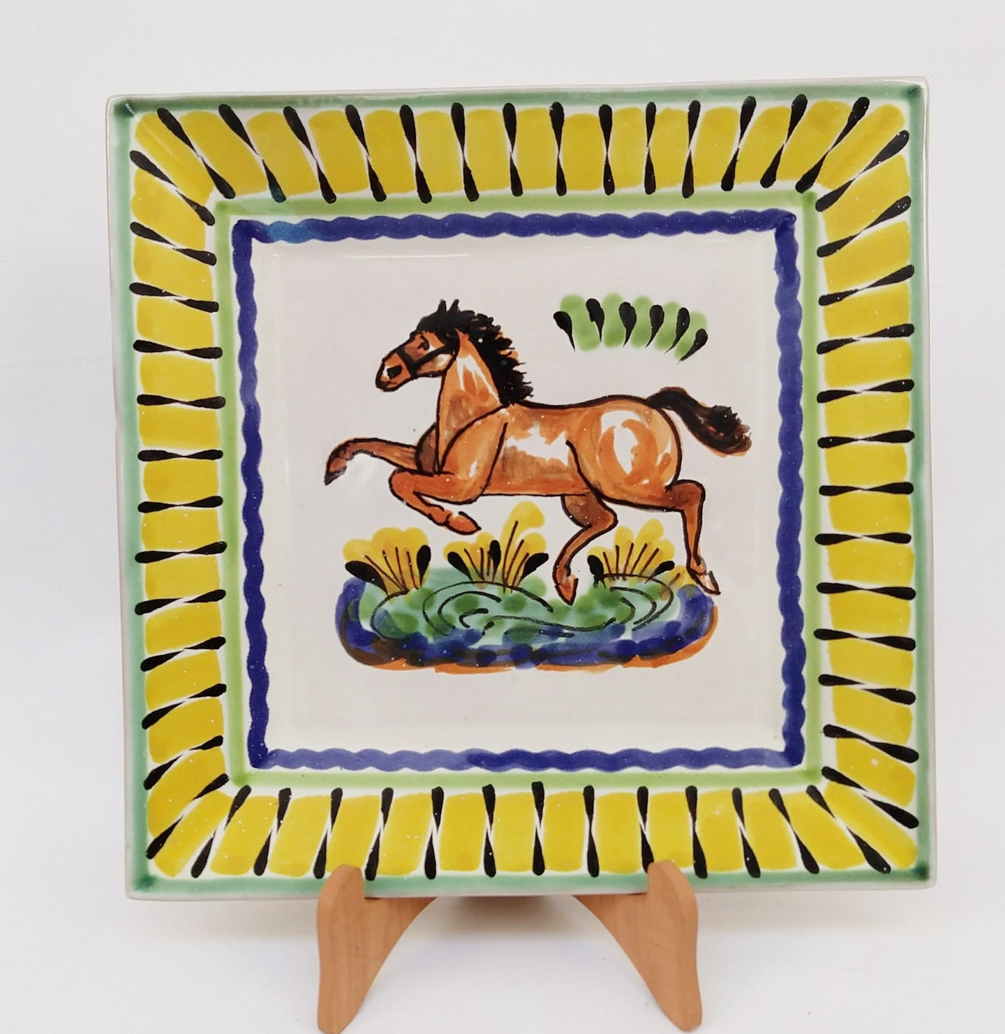 Horse Dinner Square Plate 11x11