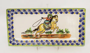 CowGirl Large Rectangular Plate 7.5x15 in