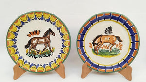 "Horse Charger Dinner Plate 12"" D Set of 2 Multicolor"