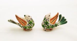 New Bird Salt and Pepper Shaket Set Green Colors
