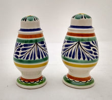 Spinning Salt and Pepper Shaker Set Blue-Green Colors