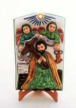 "Saint Pedro Altar Piece 13.4 X 8.7"" Green Colors"
