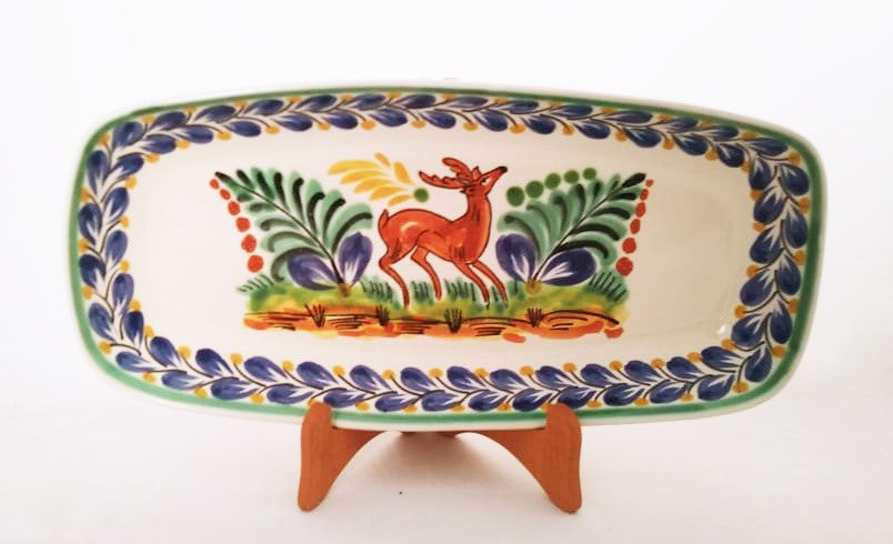 Deer Mini Rectangular Platter 7.1 X 14.6
