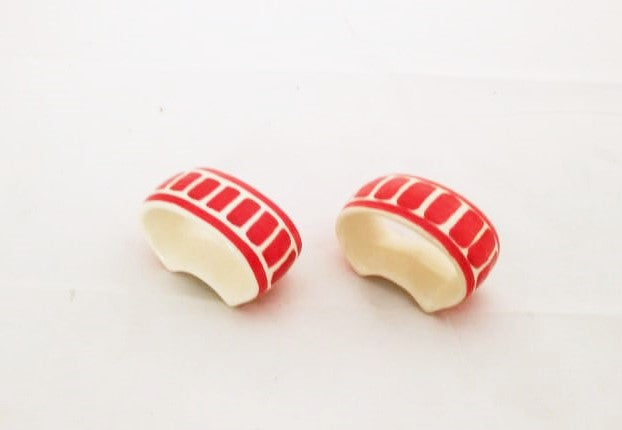Napking Ring Clasic Set of 2 red colors