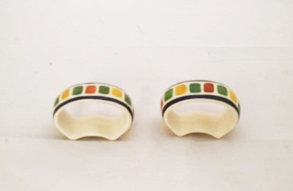 Napking Ring Clasic Set of 2 green-yellow colors