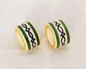 Large Napking Ring Set of 2 green colors