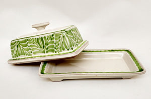 Butter Dish in Green Colors