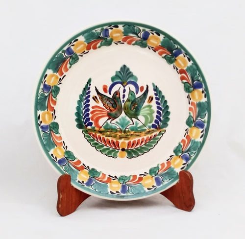 Love Birds Large Deep Round Platter 13.8