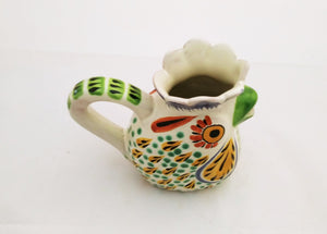 Rooster Creamer Pitcher 10 Oz MultiColors