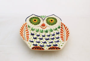 Owl Dish Plate / Snack Dish MultiColors