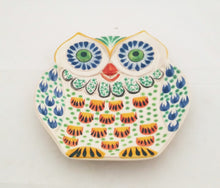 Owl Dish Plate Terracota-Blue Colors