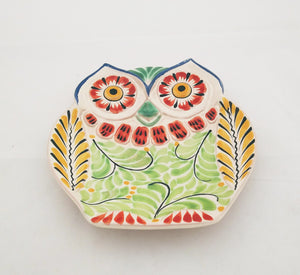 Owl Dish Green-Yellow Colors