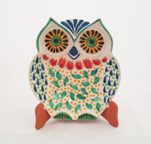 Owl Dish Green-Yellow-Blue Colors
