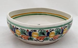 "Rooster Square Salad Bowl 10*10"" Green-Yellow-Terracota Colors"