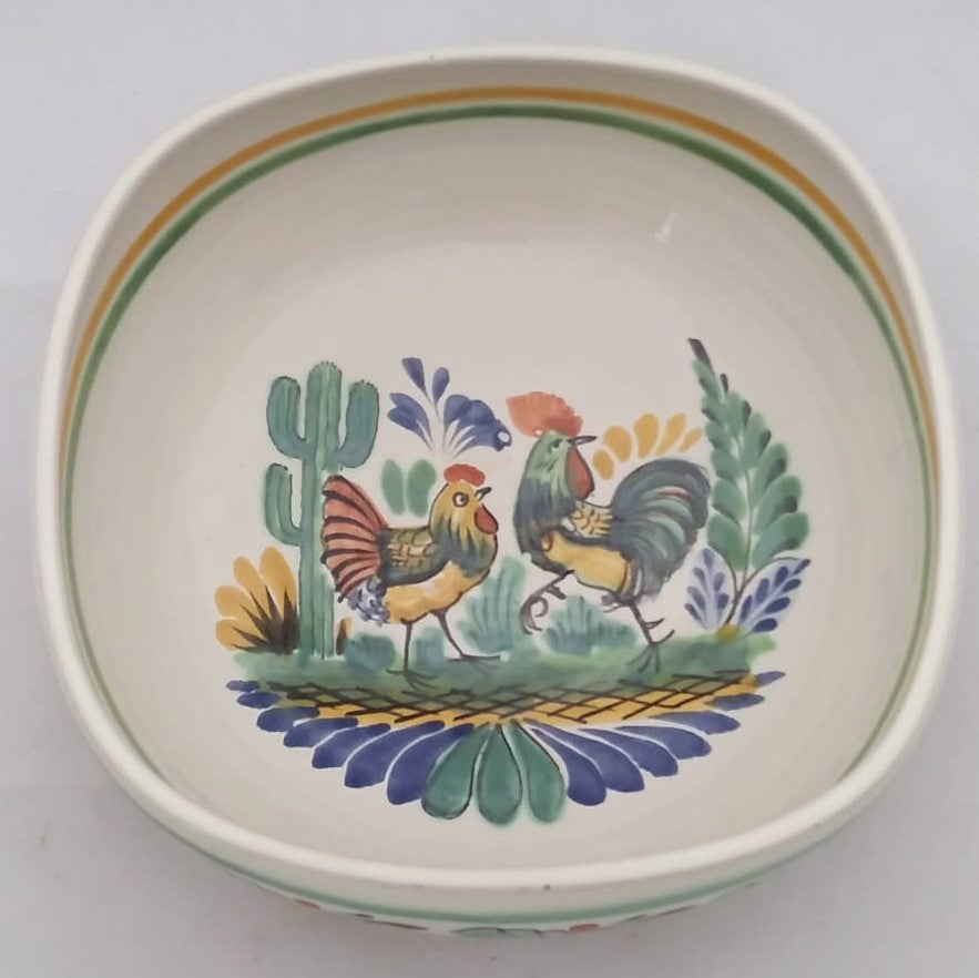 Rooster Square Salad Bowl 10*10