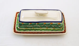 Butter Dish MultiColors - Mexican Pottery by Gorky Gonzalez