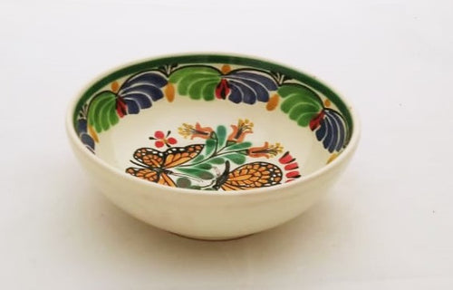 Butterfly Cereal Bowl 16.9 Oz Blue-Green-Orange-Black Colors
