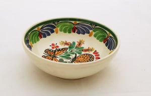 Butterfly Cereal Bowl 16.9 Oz Blue-Green-Orange-Black Colors - Mexican Pottery by Gorky Gonzalez