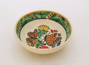 Butterfly Cereal Bowl 16.9 Oz Green-Orange-Black Colors