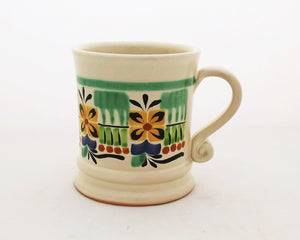 Traditional Coffe Mug 12.2 Oz Green-Blue-Yellow Colors