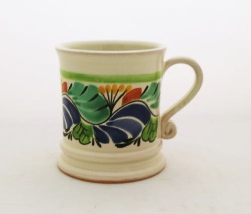Traditional Coffe Mug 12.2 Oz Green-Blue Colors