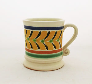 Traditional Coffe Mug 12.2 Oz Yellow-Black-Blue Colors