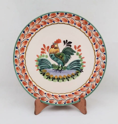 Rooster Decorative Flat Platter 13.8