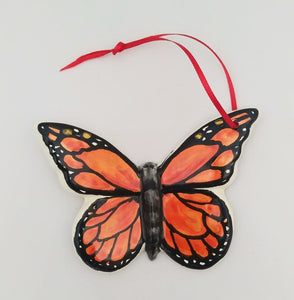 Ornament Butterfly Monarca Orange-Black Colors