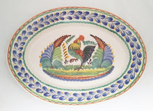"Rooster Decorative / Serving Oval Platter 17.3*21.6"" MultiColors"