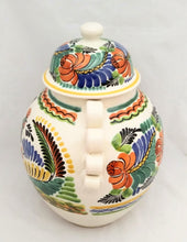 "Rooster Decorative Vase Large Gto Jar 16.5"" H Traditional Green-Blue-Yellow Colors"