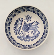 Bird Cereal Bowl 16.9 Oz Blue and White - Mexican Pottery by Gorky Gonzalez